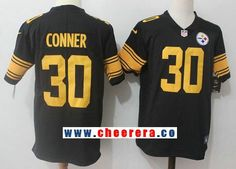 Men s Pittsburgh Steelers  30 James Conner Black 2016 Color Rush Stitched  NFL Nike Limited Jersey 8d6714935