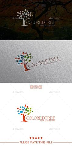 Tree Logo — Photoshop PSD #eco #green • Available here → https://graphicriver.net/item/tree-logo/10499028?ref=pxcr