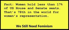 """""""Women hold less than 17% of US House and Senate seats."""""""