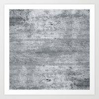 Art Print featuring Concrete by Grace