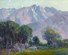 ''Lingering Snow,'' Hanson Duvall Puthuff, oil on canvas, 24 x 30'', private collection.