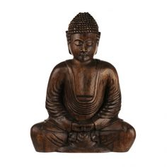 STATUE Sitting Buddha Suarwood 33.5cm | Karma Living