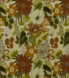 Home Decor Print Fabric-Robert Allen Lilith Marigold