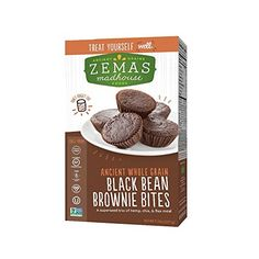 Zemas Madhouse Food Brownie Bites - Black Bean - Case Of 6 - Oz. Mini Brownies, Black Bean Brownies, Teff Flour, Chocolate Chip Cookie Mix, Flax Seed Recipes, Gluten Free Brownies, Brownie Bites, Protein Pack, Foods With Gluten