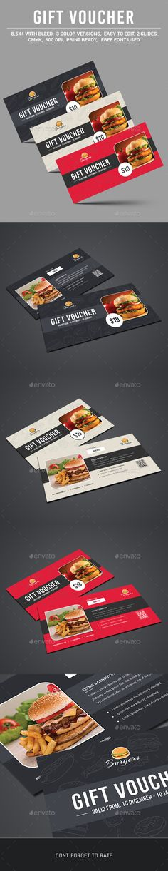 Buy Gift Voucher by on GraphicRiver. Gift Voucher or discount coupon for your business such as restaurant, salon, fitness etc. Available on PSD format, al. Restaurant Vouchers, Restaurant Gift Cards, Red Restaurant, Blank Business Cards, Custom Business Cards, Ticket Design, Menu Design, Corporate Design, Gift Voucher Design