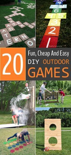 Fun, Cheap And Easy DIY Outdoor Games For The Whole Family Rundup of extremely fun DIY outdoor games that are not just limited to kids.Rundup of extremely fun DIY outdoor games that are not just limited to kids. Diy Yard Games, Lawn Games, Diy Games, Backyard Games, Backyard Ideas, Easy Kid Games, Fun Kids Games, Cool Diy, Easy Diy
