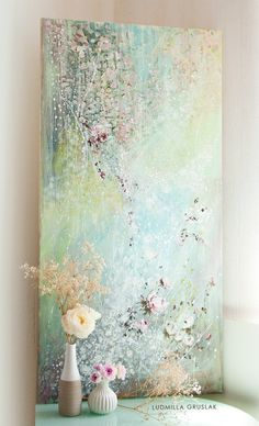 Original roses painting by Ludmilla Gruslak /original painting on canvas/ contemporary floral art/ roses art Floral Artwork, Rose Art, Arte Floral, Abstract Flowers, Art Techniques, Altered Art, Diy Art, Flower Art, Painting & Drawing