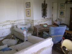 Living room after the storm