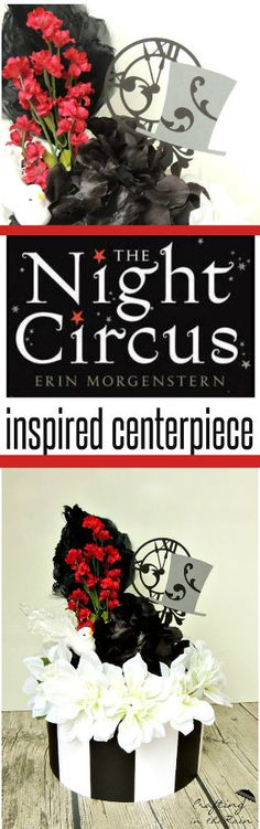 The Night Circus Centerpiece | Crafting in the Rain... Great for a Night Circus party or book club. #MakeItFunCrafts #ad
