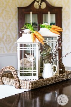 Decorating with Lanterns | Ideas and inspiration from On Sutton Place | Spring Bunnies