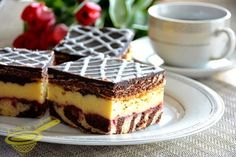"z cukrem pudrem: ciasto ""Zebra z klasą"" Homemade Cakes, Cake Cookies, Tiramisu, Ale, Waffles, Cheesecake, Good Food, Sweets, Cooking"