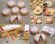 DIY New Years Confetti Clock Cookies