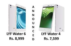 Reliance launched #LYFWater4 and #LYFWater6 in India, priced at Rs. 7,599 and Rs. 8,999