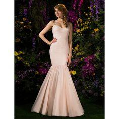 Trumpet/Mermaid Train Tulle Bridesmaid Dress