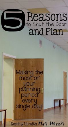 TTeacher planning time is always too short. I have 5 tips to help you use your planning period for actually planning. These teacher time management tricks will work! I especially like #3. teacher time savers / teacher / planning