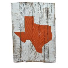 Texas Austin Gameday Reclaimed Wooden Pallet Art Painted | State Traditions