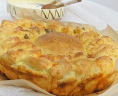 Mod de preparare reteta Paine umpluta Aluat. Intr-un bol curat si uscat punem faina cernuta, oul, untul la temperatura camerei, sarea, zaharul si sarea. Adaugam apa calduta, putin cate putin, omoge... Cooking Bread, Apple Pie, Desserts, Brot, Tailgate Desserts, Deserts, Postres, Dessert, Apple Pie Cake
