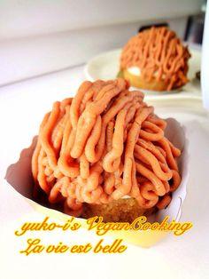 Mont Blanc cakes (Chestnuts cakes) : Amazing Vegan food!  #Vegan #Gluten free. Menu of sweets class of Sep.2014 http://www.yukoi.com/ モンブラン: 動物性食品ナシのスイーツ。卵、乳製品はもちろん、小麦粉も不使用。2014.9月のお菓子教室メニュー♪