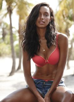 Technically, this low-cut bra's made for revealing necklines, but it looks just as hot with cutoff shorts. | Victoria's Secret Demi Bra