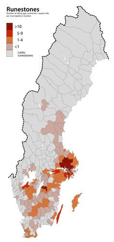Density of viking-age rune stones in Sweden