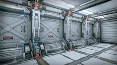 SciFi Corridor by sungwoo lee in Environments - UE4 Marketplace