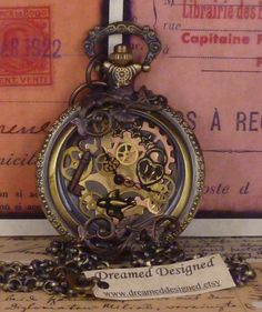 Airship Captain Steampunk vintage pocket watch by dreameddesigned
