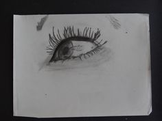 """Eye love Ashton""  Pencil Drawing 8""x 20"""