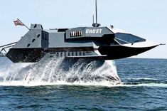 World Most Futuristic, Stealth Attack Marine Platform Designed for US Navy GHOST is a super-cavitating stealth ship which can reduce the hull friction to Fast Boats, Cool Boats, Speed Boats, Catamaran, Sports Nautiques, Attack Helicopter, Float Your Boat, Naval, Yacht Boat