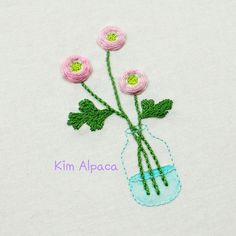 ranunculus flower hand embroidery pattern and video tutorial for free Embroidery Art, Embroidery Patterns, Hair Accessories, Ranunculus, Flowers, Free, Dots, Needlepoint, Needlepoint Patterns