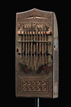 "Africa | Lamellophone ""malimba"" from the Zaramo people of Tanzania | Wood and metal"