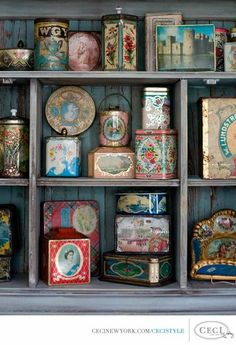 Vintage tins by corbin gurkin photography for Ceci New York