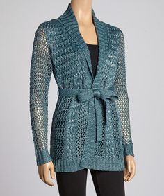 Loving this Lagoon Cable-Knit Duster on #zulily! #zulilyfinds Pretty color, looks light and airy