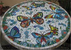 Butterflies Mosaic Table