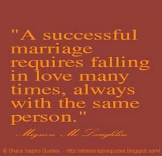 A successful marriage requires falling in love many times, always with the same person. ~Mignon McLaughlin  #FamousPeople #famousquotes #famouspeoplequotes #famousquotesandsayings #famouspeoplequotesandsayings #quotesbyfamouspeople #quotesbyMignonMcLaughlin #MignonMcLaughlin #MignonMcLaughlinquotes #successful #marriage #love #shareinspirequotes #share #inspire #quotes #wharsapp