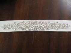 Pearl and Rhinestone Bridal Belt