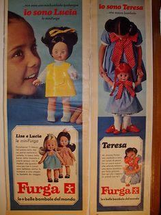 LISA e LUCIA - bambole Furga - Pubblicità, Advertising doll 1967