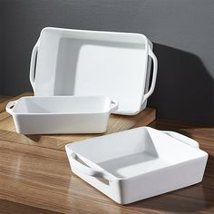 Everyday Baker Set Of 3   Crate and Barrel