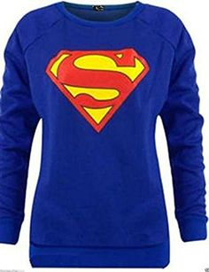 Ladies SUPERMAN COMIC printed SWEATSHIRT TOP JUMPER SIZE 814 caught wearing these outstanding jumper and show what really looks BEAUTIFUL :) Material: 65% Polye...