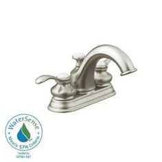 Design House Saratoga 4 In Centerset 2 Handle Bathroom Faucet In Satin Nickel 545509 At The