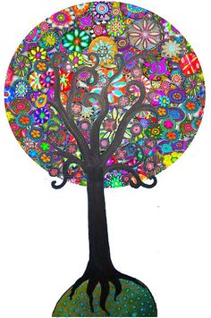 """Tree of Life   """"Ye are the fruits of one tree, and the leaves of one branch. Deal ye one with another with the utmost love and harmony, with friendliness and fellowship."""" ~Baha'u'llah"""
