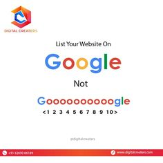 Rank your website on Google with us. We will help you rank your website on Google and not on Goooooogle. For Services related to Digital Marketing and SEO Contact Us : +916269066189. #google #googlerank #websiterank #searchengine #website #websiteranking #grow #marketingworld #marketingdigital #onlineworld #growyourbusiness #digitalmarketing #marketingservices #digitalcreaters #DC #SMM #socialmediamarketing #onlinebusiness #services #onlinemarketing #SEO #follow #digitalworld Best Marketing Companies, Best Digital Marketing Company, Digital Marketing Services, Online Marketing, Social Media Marketing, Business Website, Online Business, Hospital Website, Best Web Development Company