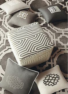 hbx-mary-mcdonald-schumacher-fabrics grey - Splendid Habitat - Interior design and style ideas for your home. Color 2017, Mary Mcdonald, Elements Of Style, Schumacher, Soft Furnishings, Home Accessories, Decorative Pillows, Shanghai, Upholstery
