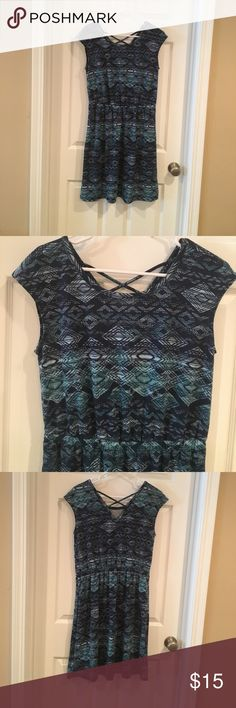NWT Sonoma Blue Summer Dress Sz M NWT Sonoma Dress. Size M.  Measures 17 inches across bust. Measures 37 inches from shoulder to hem. Material is Polyester Rayon blend. Sonoma Dresses Mini
