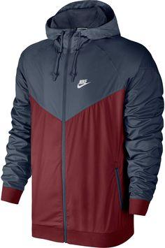 Nike Men s Windrunner Colorblocked Jacket - Blue 2XL  3266d7da6