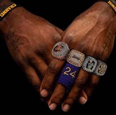 Lebron James Rings, Lebron James Tattoos, King Lebron James, Lebron James Lakers, King James, Kobe Bryant Rings, Kobe Bryant 8, Basketball Baby, Basketball Pictures
