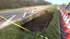 Kent - Sinkhole on A249