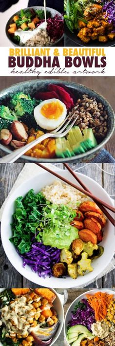 Brilliant & Beautiful Buddha Bowls - The Whole Daily I think I'm in heaven!| healthy recipe ideas @xhealthyrecipex |