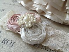 Vintage bridal garter headband by CozetteCouture on Etsy, $38.99