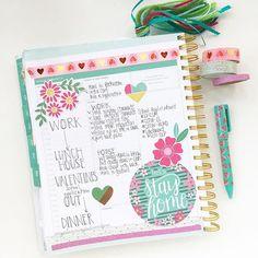 I hope you all had a wonderful Monday. #planner #plannernerd #daydesigner #dailyplanning #washilove #washi #pinkpaislee #ephemeraaddict #plannertassel #handlettering #targetdollarspot