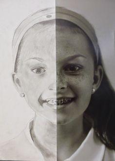 The Calvert Canvas: Adventures in Middle School Art!: self portrait